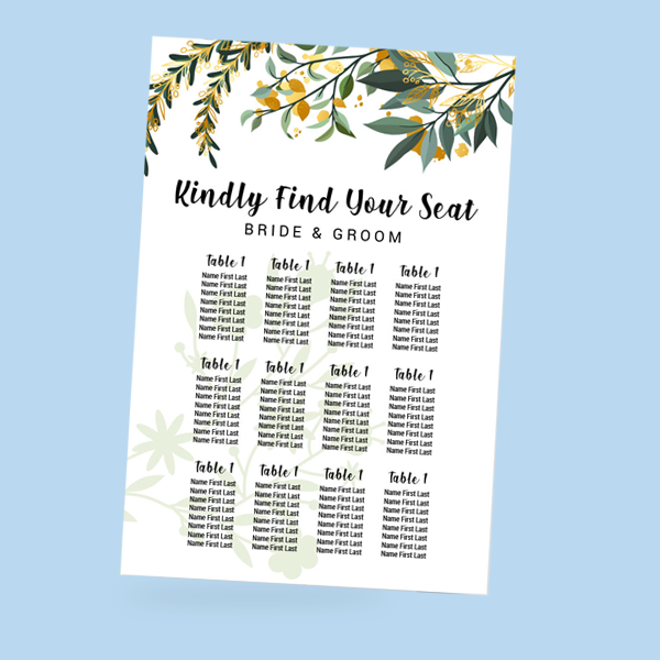 Wedding Seating & Welcome signs